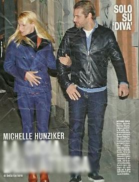 Michelle Hunziker si tocca il pancino
