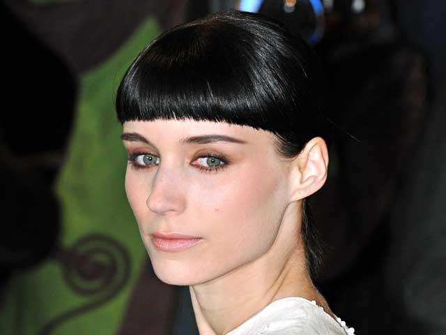 Rooney Mara con capelli corti con frangia