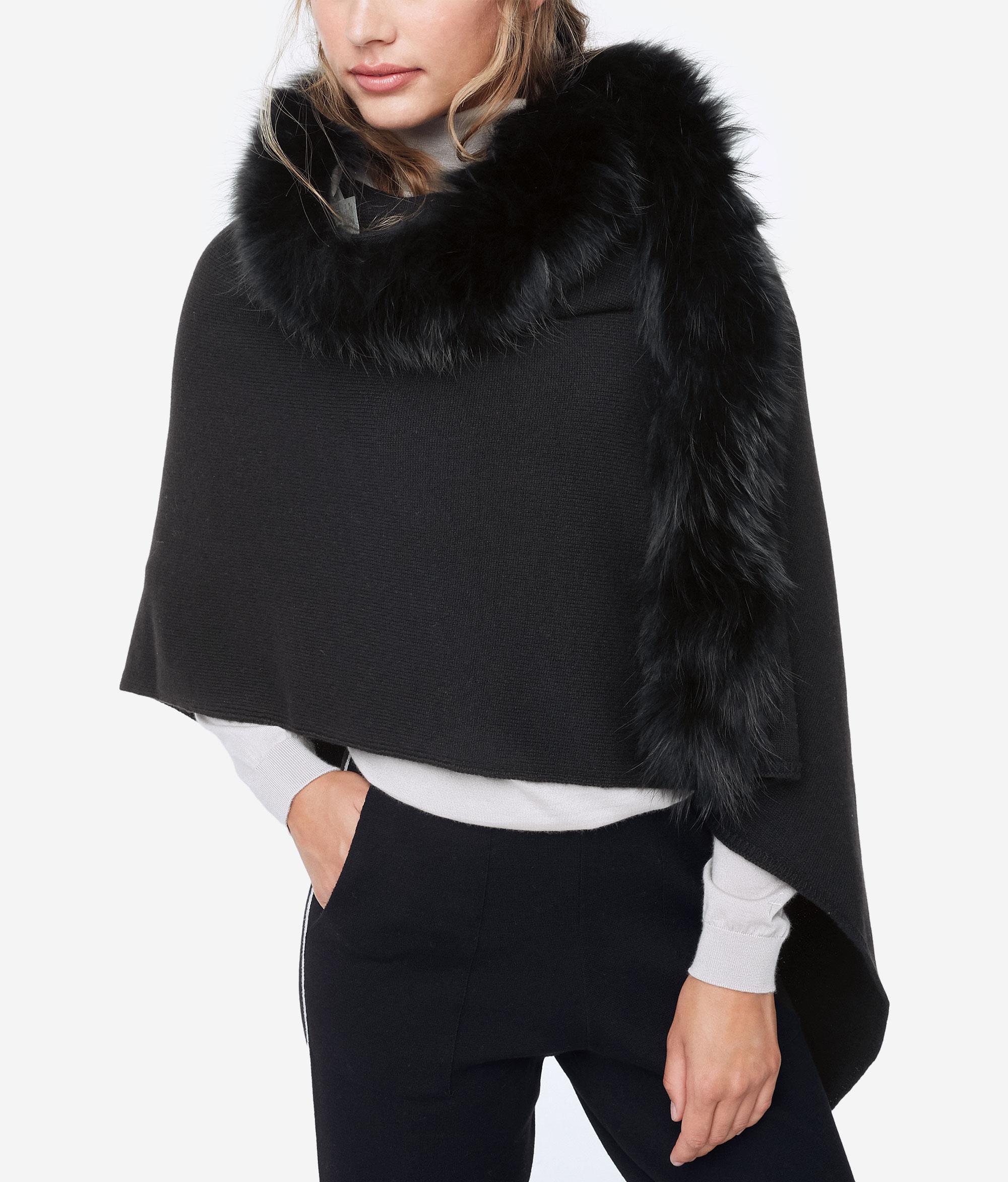 Stola in cashmere e pelliccia Falconeri