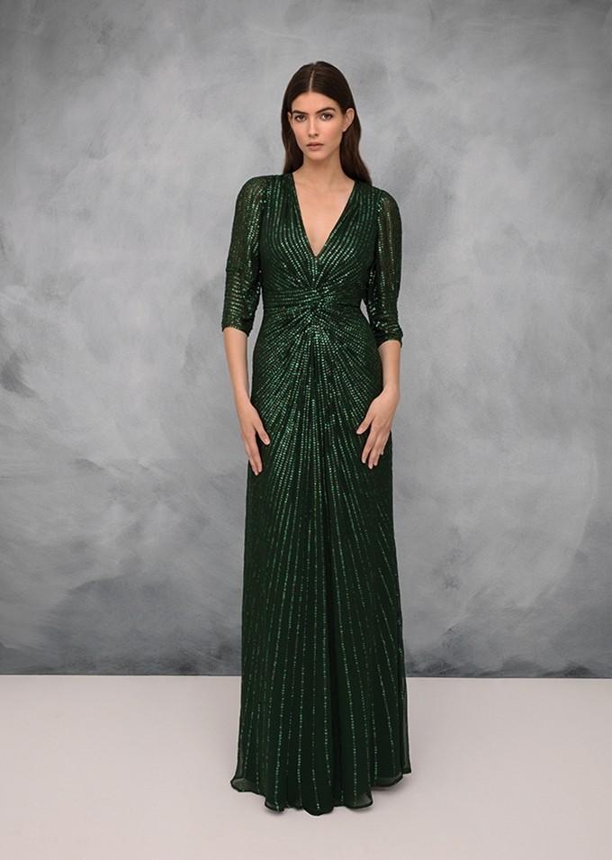 Vestito da sera verde Jenny Packham