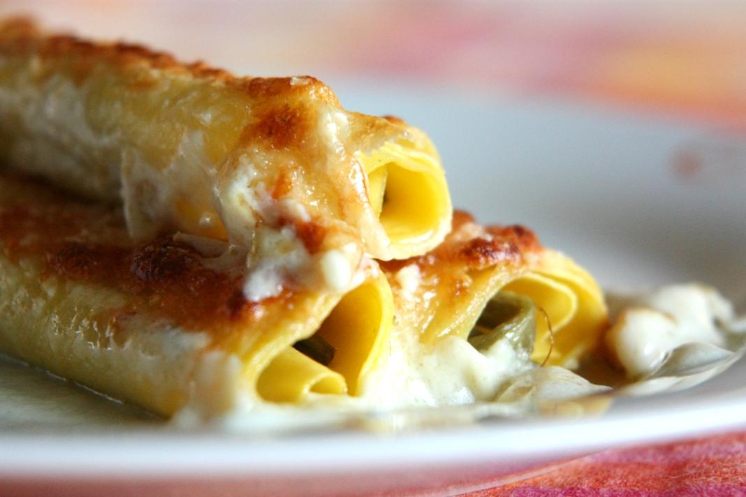 Cannelloni stracchino e bietole, ricetta light e gustosa