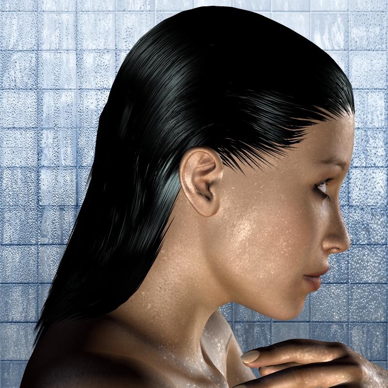 capelli prodotti anticrespo su capelli bagnati