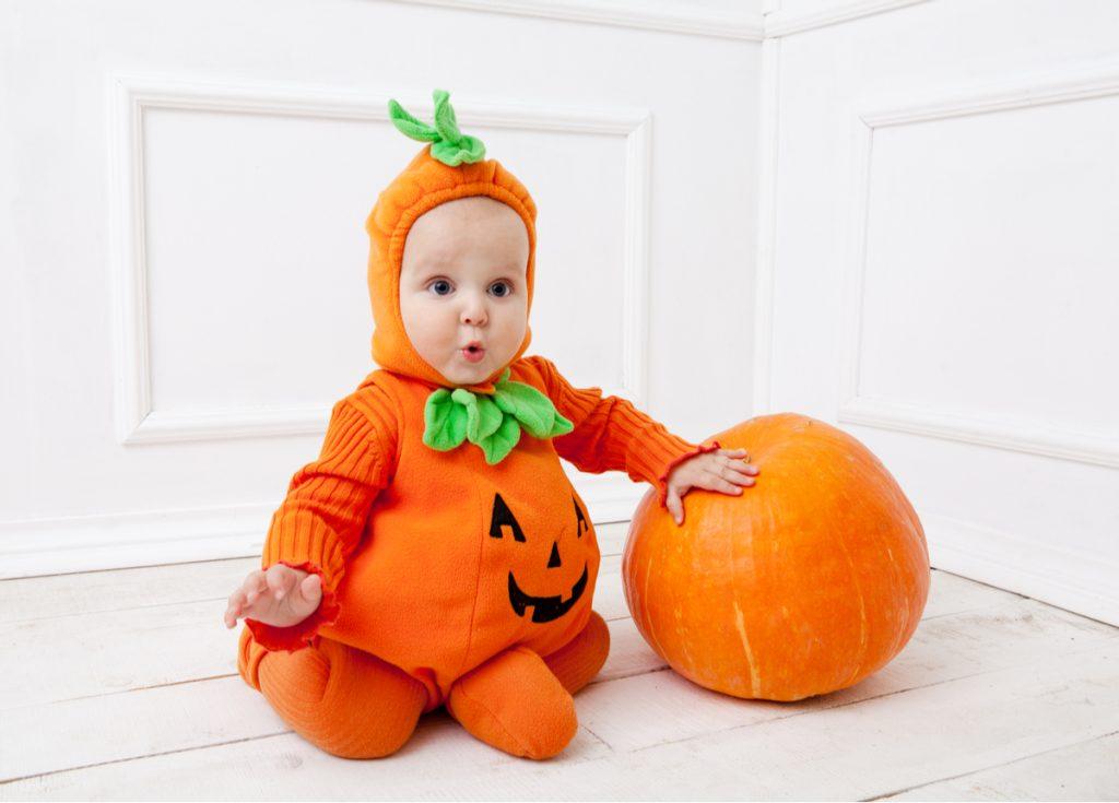 Costume Halloween bambini piccoli zucca