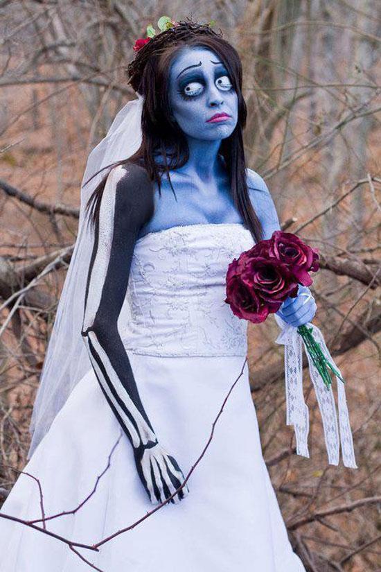 costume halloween sposa cadavere
