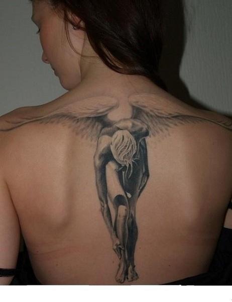 disegno tatuaggio fallen angel dim