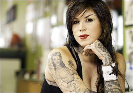 Il pin up tattoo di Kat Von D