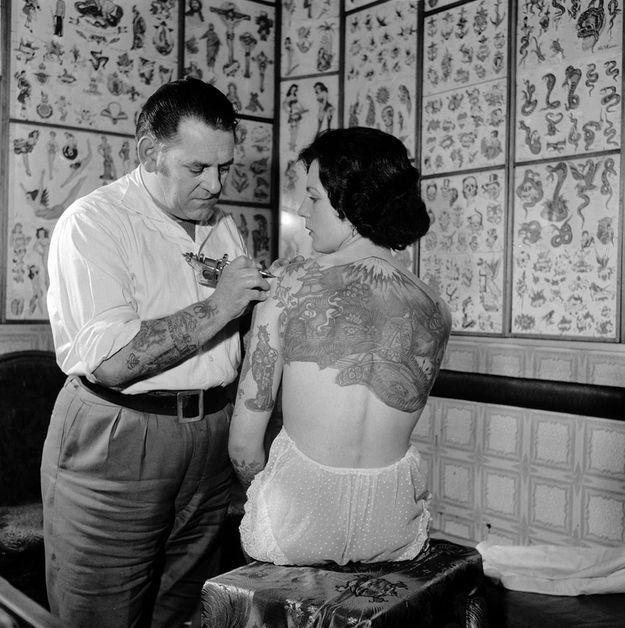 tatuaggi old school per lei foto epoca