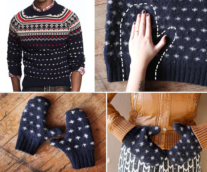 warm sweater mittens collage