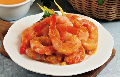 Gamberi salsa peperoni