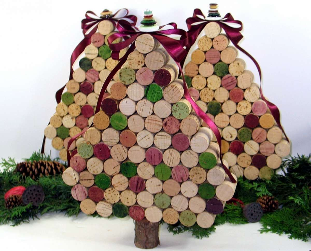 Lavoretti In Legno Per Natale decorazioni di natale: lavoretti con i tappi di sughero
