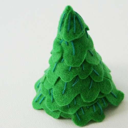 Albero di Natale in pannolenci: simpatiche creazioni in feltro