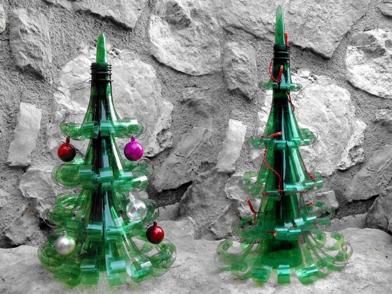 albero natale plastica bottiglie
