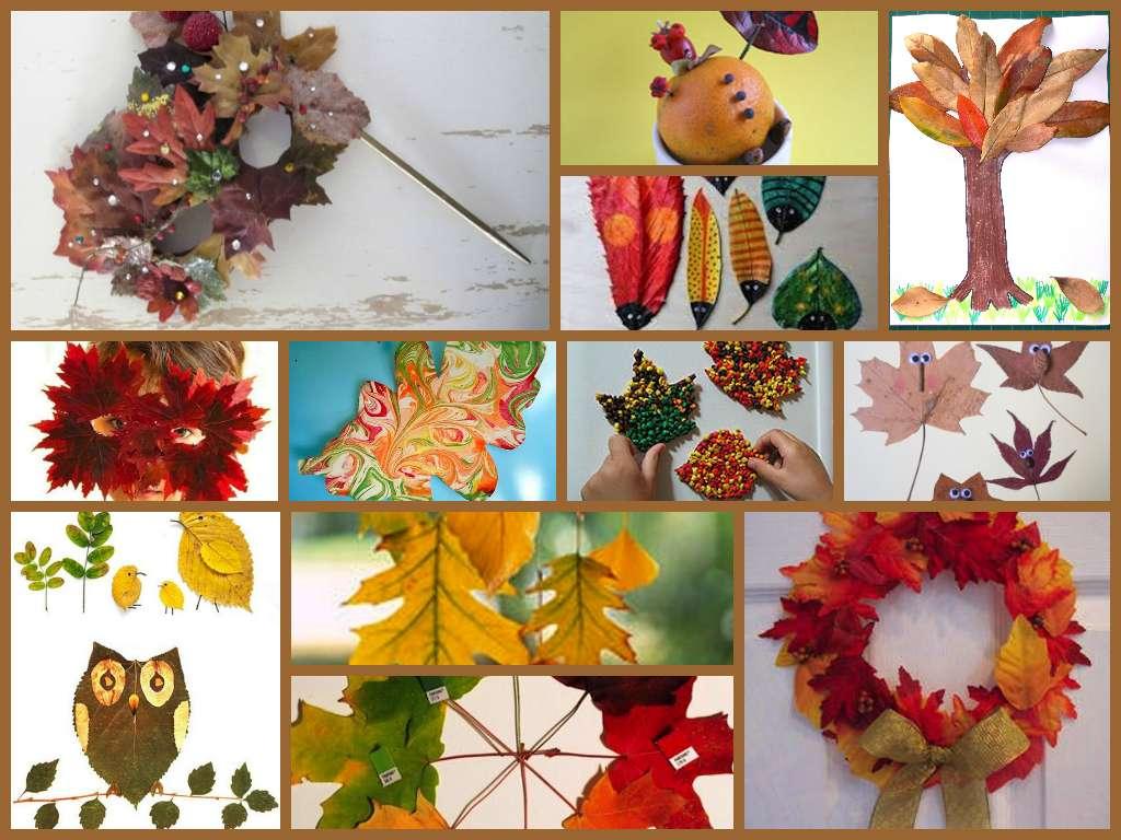Lavoretti con le foglie per bambini [FOTO]