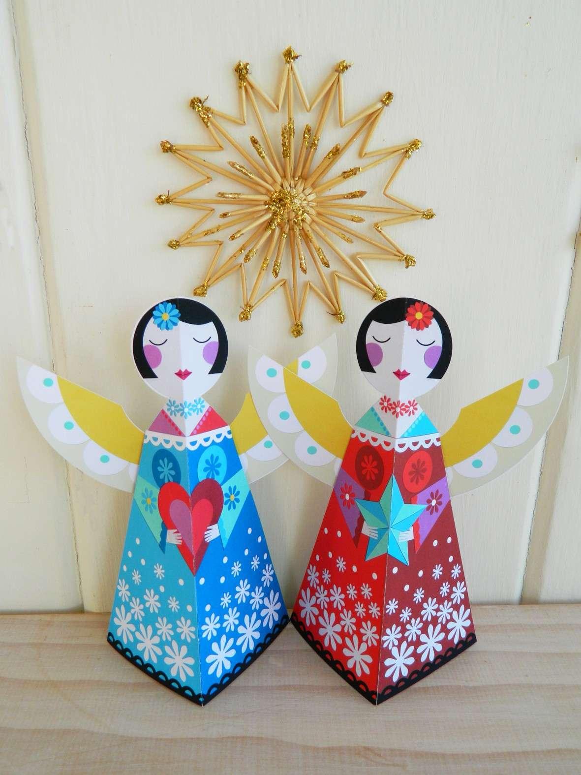 Lavoretti natale crea degli angeli per decorare la tua for Decorare la camera per natale