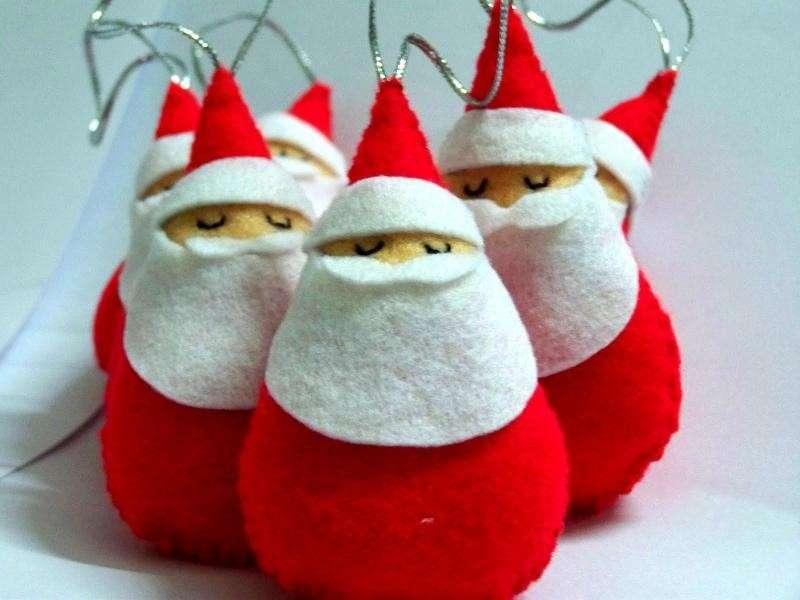 Lavoretti di Natale per bambini in feltro [FOTO]