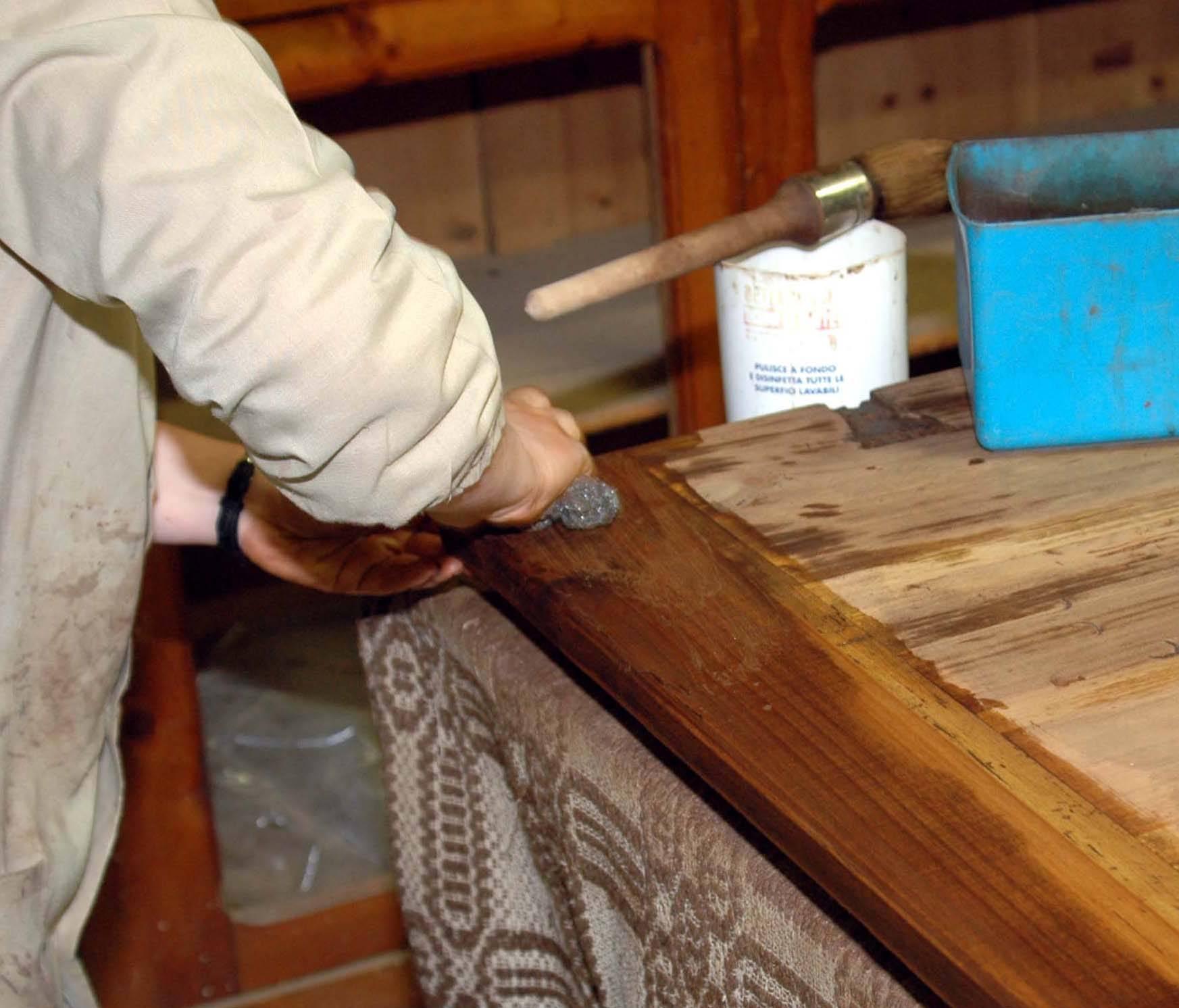 pulitura mobile restauro fai da te