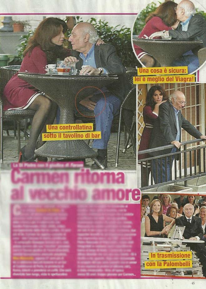 Abbracci e tenerezze per Carmen Di Pietro e Nino Marazzita