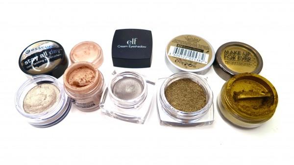 Ombretti metal per trucco su pelle olivastra