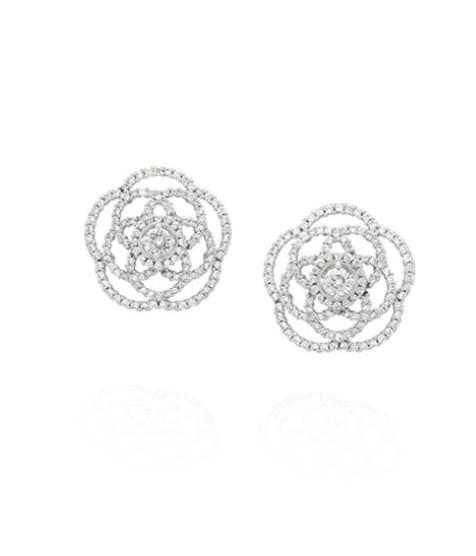 Orecchini Camelia Chanel in oro bianco