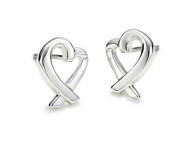 Orecchini Tiffany in argento a forma di cuore