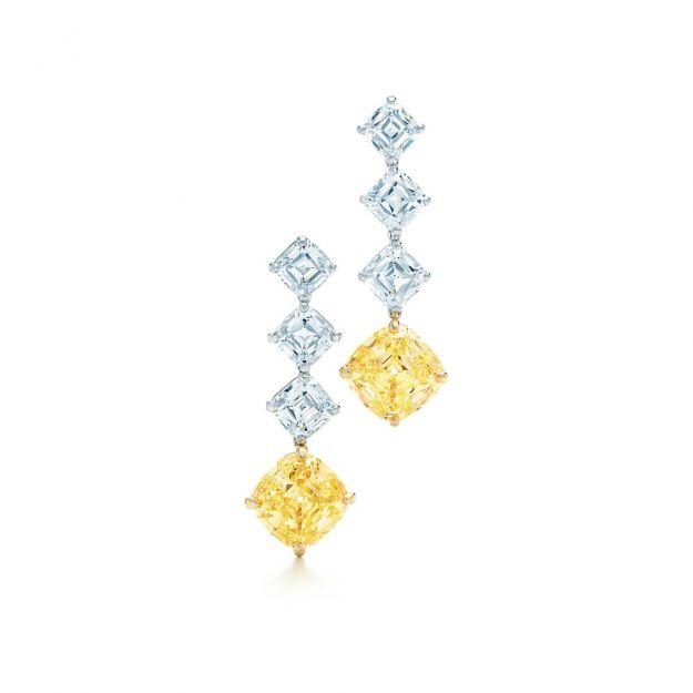 Orecchini platino e diamanti Tiffany