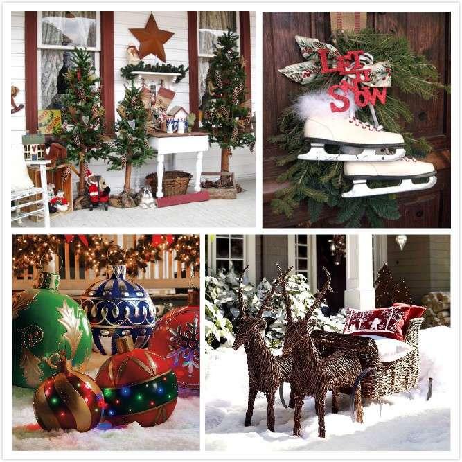 Addobbi natalizi per esterno decorazioni per casa e for Decorazioni da tavolo natalizie