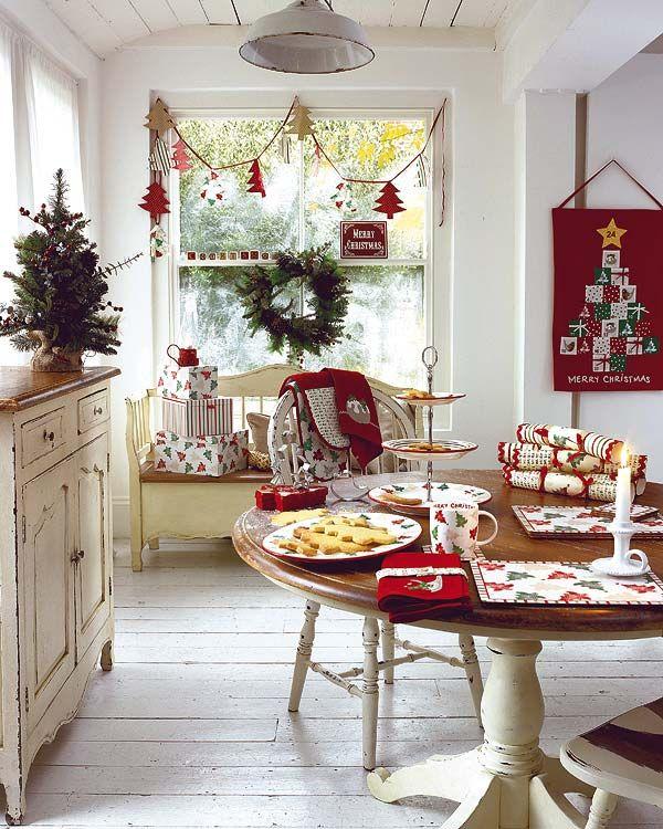 Decorazioni natalizie shabby chic per la casa foto for Bricolage per la casa