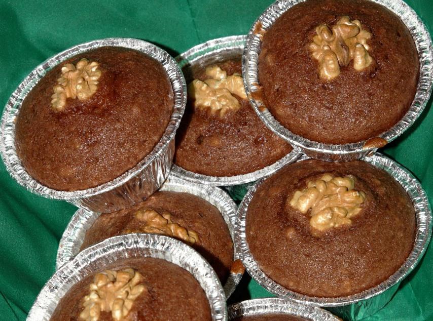 muffin al cacao con banana e noci