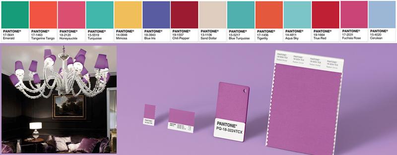 I colori dell'anno Pantone degli anni passati