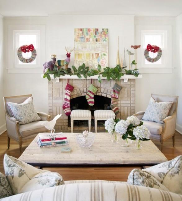 Decorazioni natalizie shabby chic per la casa foto pourfemme - Idee shabby chic per la casa ...