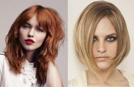 Immagini tagli capelli medi sfilati