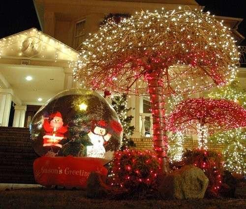Addobbi natalizi americani idee per decorare la tua casa foto pourfemme - Addobbi natalizi per la porta ...