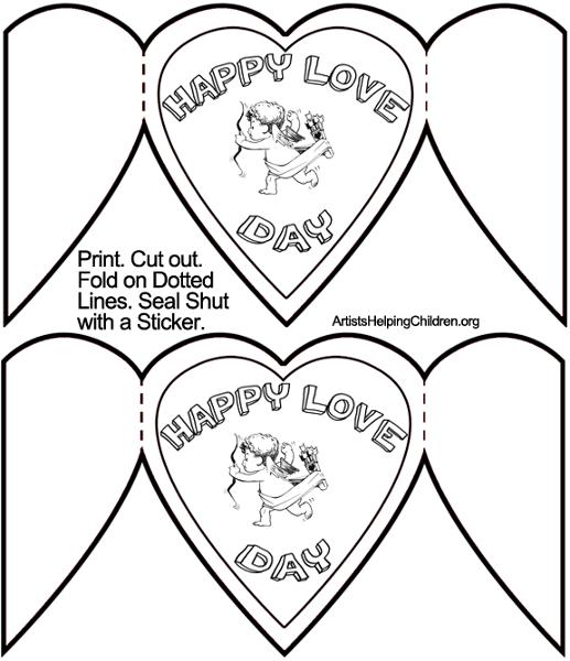 Biglietti San Valentino fai da te stampare bianco e nero