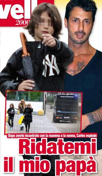 Nina Moric con l'ex suocera e il figlio fanno visita a Corona
