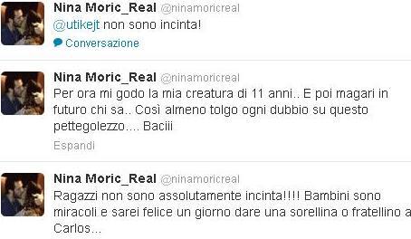 Nina Moric smentita gravidanza