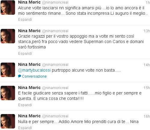 Nina Moric sulla rottura con Massimiliano Dossi