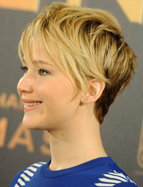 Pixie Haircuts 2014 Jennifer Lawrence Blonde Ombre Short Hair