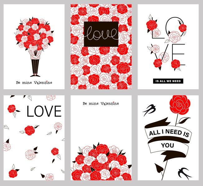 I biglietti di San Valentino fai da te da stampare