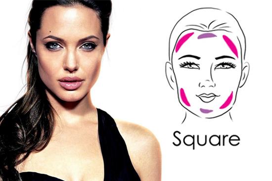 forma viso quadrato