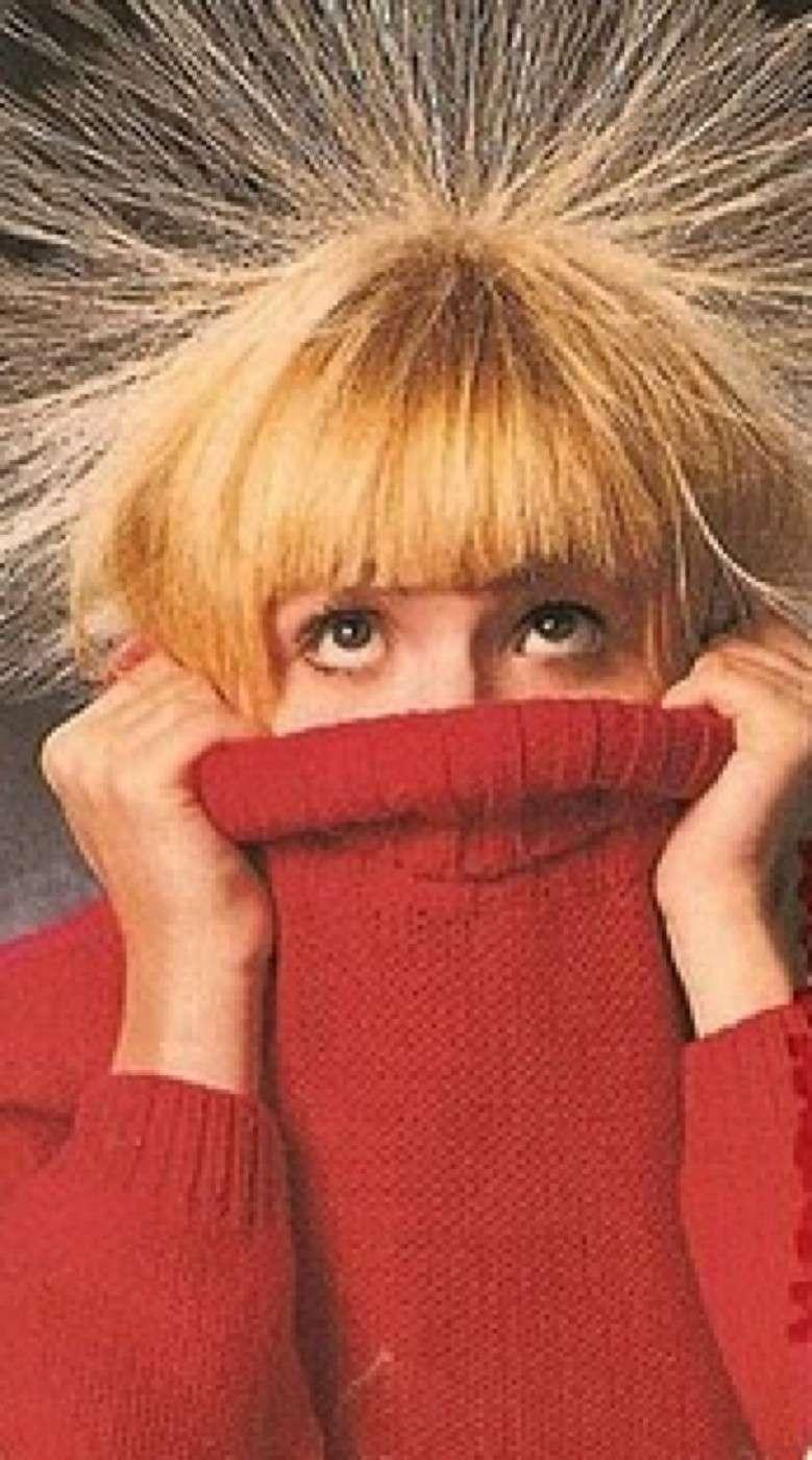 Indumenti di lana che non rendano elettrici i capelli