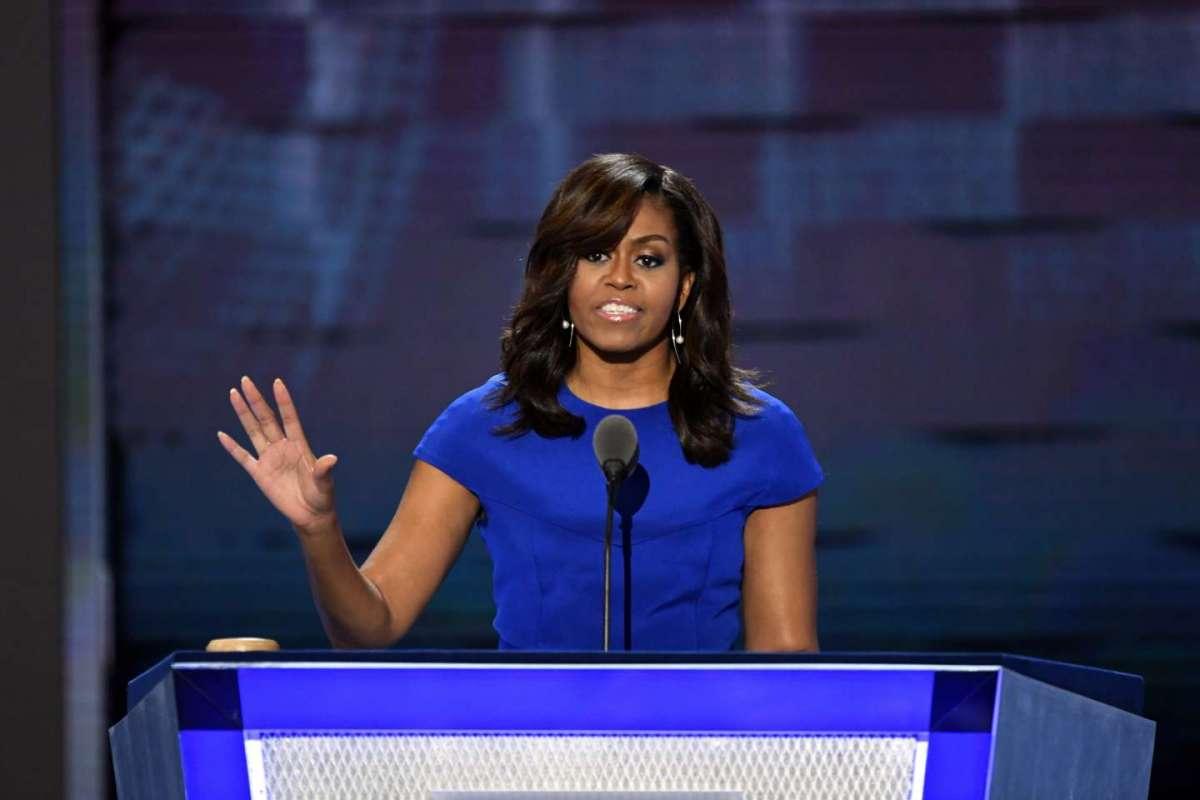 Michelle Obama alla convention democratica pro Hillary Clinton