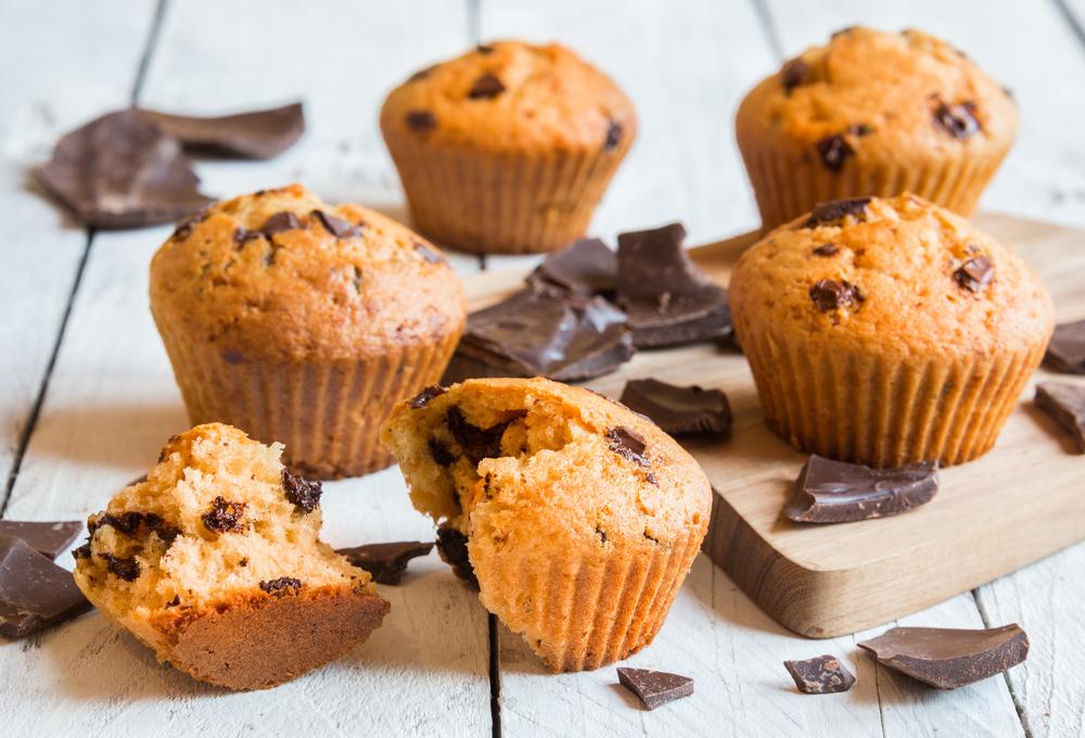 ricette light vegetariane: muffin carote e cioccolato