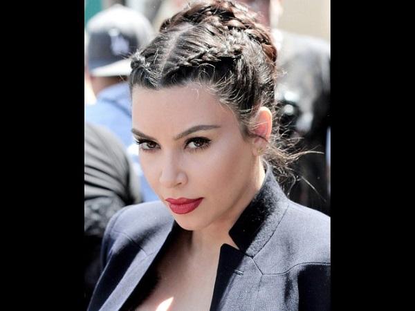 Acconciature capelli con treccia kim kardashian