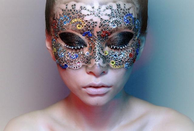 Maschera creata con eyejewels