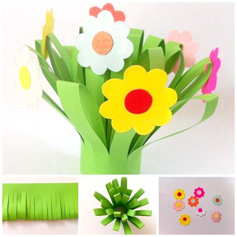 bouquet fiori di carta festa della donna