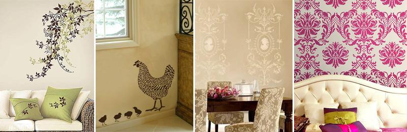 Stencil per decorare le pareti idee per la tua casa foto - Decorare pareti con pittura ...