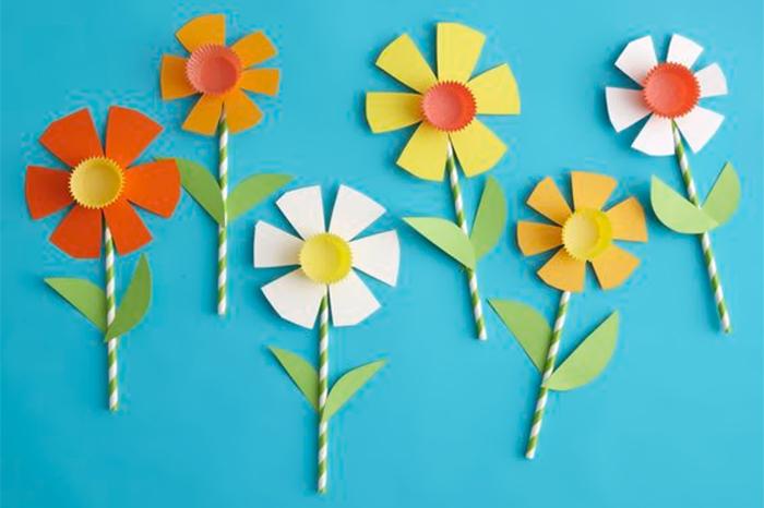fiori di carta festa della donna