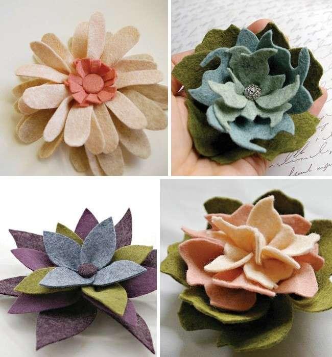 Come creare fiori in feltro [FOTO]