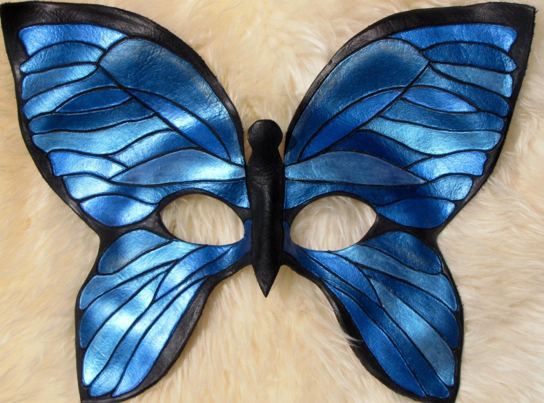 maschera farfalla azzurra carnevale diy