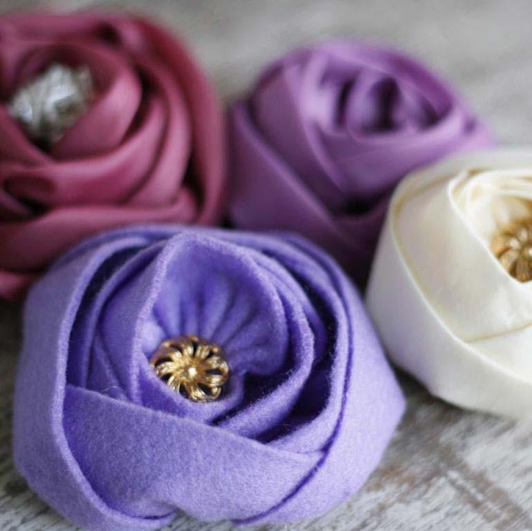 roselline bonton feltro